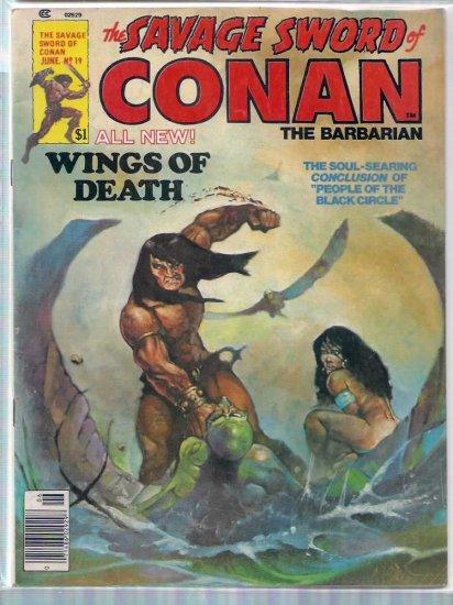 SAVAGE SWORD OF CONAN THE BARBARIAN # 19, 4.5 VG +