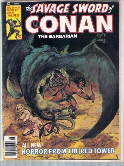 SAVAGE SWORD OF CONAN THE BARBARIAN # 21, 6.5 FN +