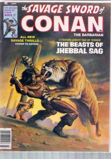 SAVAGE SWORD OF CONAN THE BARBARIAN # 27, 7.5 VF -