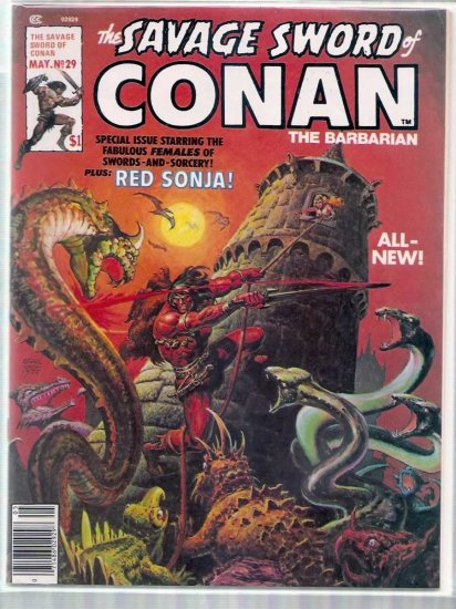 SAVAGE SWORD OF CONAN THE BARBARIAN # 29, 6.0 FN