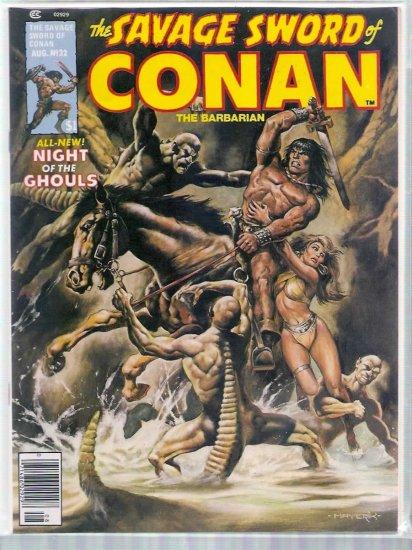 SAVAGE SWORD OF CONAN THE BARBARIAN # 32, 6.0 FN