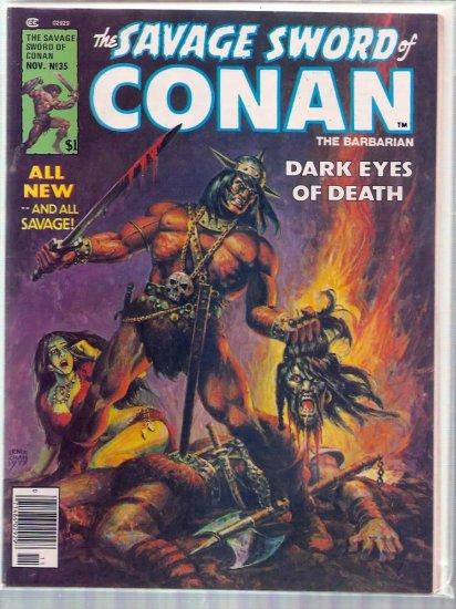 SAVAGE SWORD OF CONAN THE BARBARIAN # 35, 5.0 VG/FN