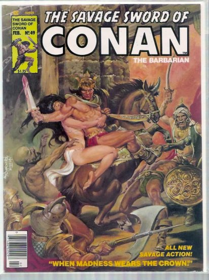 SAVAGE SWORD OF CONAN THE BARBARIAN # 49, 4.5 VG +