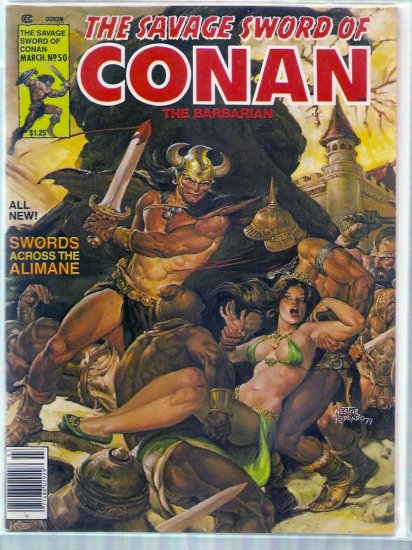 SAVAGE SWORD OF CONAN THE BARBARIAN # 50, 5.5 FN -