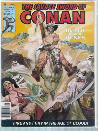 SAVAGE SWORD OF CONAN THE BARBARIAN # 57, 6.0 FN