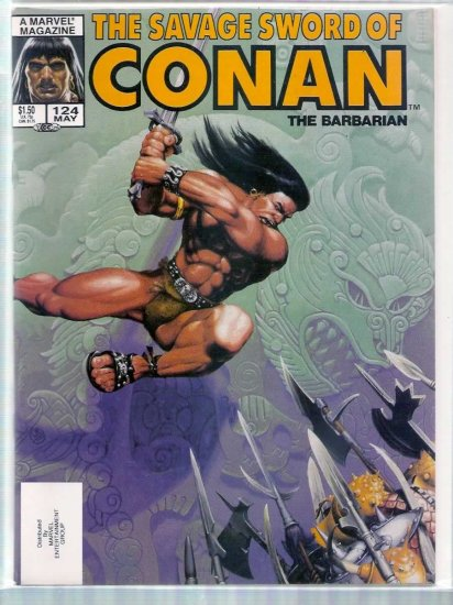 SAVAGE SWORD OF CONAN THE BARBARIAN # 124, 8.0 VF
