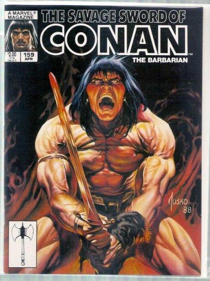 SAVAGE SWORD OF CONAN THE BARBARIAN # 159, 5.5 FN -
