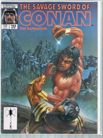 SAVAGE SWORD OF CONAN THE BARBARIAN # 163, 6.5 FN +