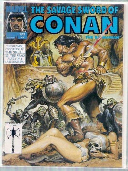 SAVAGE SWORD OF CONAN THE BARBARIAN # 193, 6.0 FN