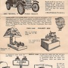 Inst Sheet 1915 Model T Ford Sedan