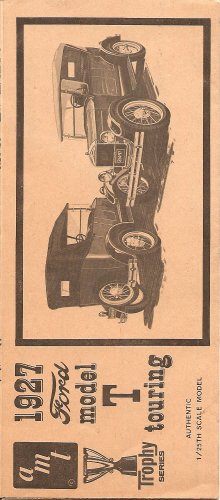Inst Sheet 1927 Ford Model T Touring