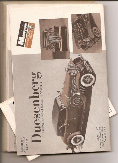Inst Sheet 1934 Duesenberg SJ