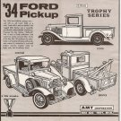 Inst Sheet 1934 Ford Pickup 3 in 1