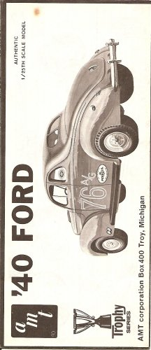 Inst Sheet 1940 Ford Trophy Series