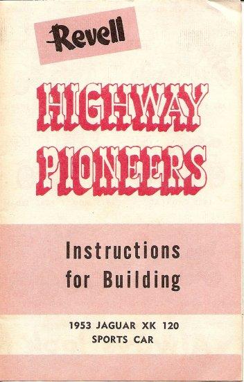 Inst Sheet 1953 Jaguar XK 120 Higheay Pioneers