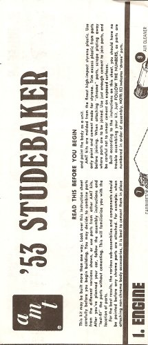 Inst Sheet 1953 Studebaker