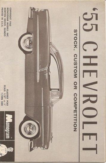 Inst Sheet 1955 Chev