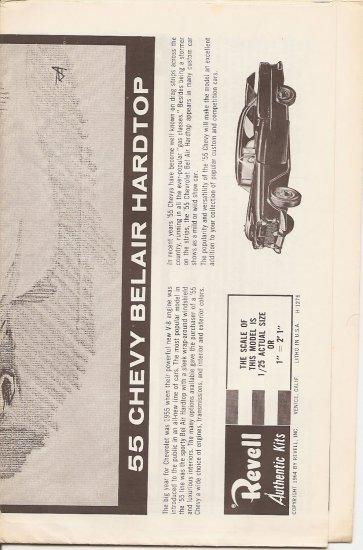 Inst Sheet 1955 Chevy Belair Hardtop