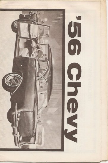 Inst Sheet 1956 Chevy Belair coupe