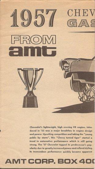 Inst Sheet 1957 Chev Gasser
