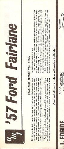 Inst Sheet 1957 Ford Fairlane