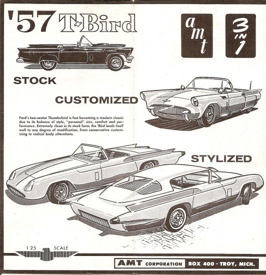 Inst Sheet 1957 T Bird 3 in 1
