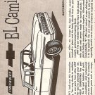 Inst Sheet 1959 Chev El Camino