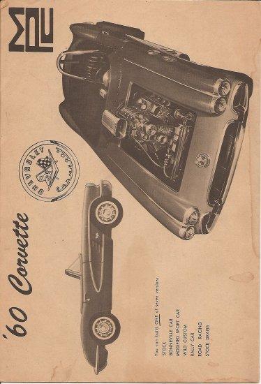 Inst Sheet 1960 Corvette