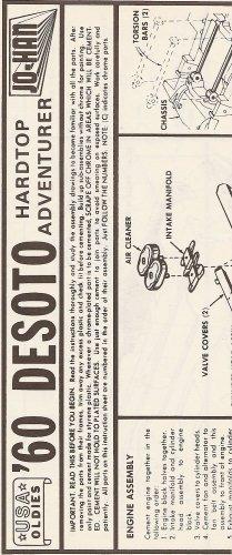 Inst Sheet 1960 Desoto Hardtop Adventurer
