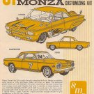 Inst Sheet 1961 Corvair Monza 3 in 1