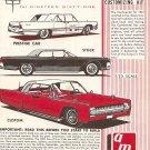 Inst Sheet 1961 Lincoln Continental Sedan 3 in 1