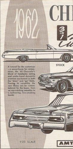 Inst Sheet 1962 Chev Conv 3 in 1
