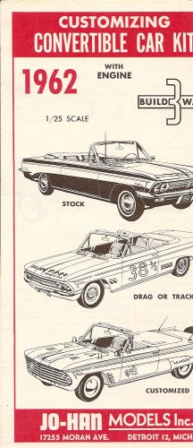 Inst Sheet 1962 Olds F 85 Build 3 Way Convertible