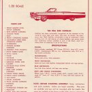 Inst Sheet 1963 Cadillac Conv