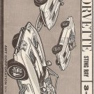 Inst Sheet 1963 Corvette Sting Ray 3 in 1