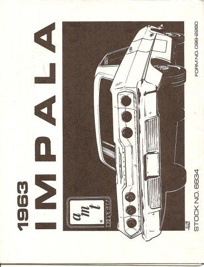 Inst Sheet 1963 Impala