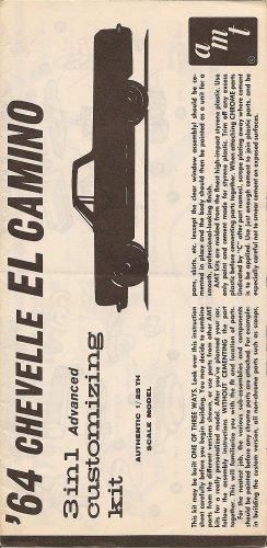 Inst Sheet 1964 Chevelle El Camino 3 in 1