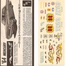Inst Sheet 1964 Mercury Marauder 3 in 1 with Decals