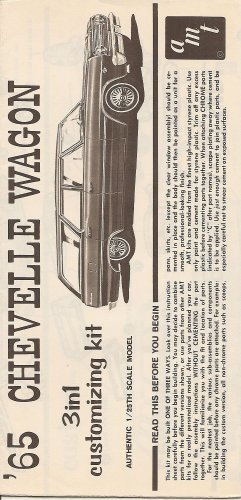 Inst Sheet 1965 Chevelle Wagon 3 in 1