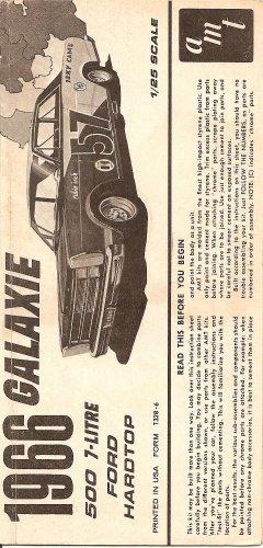 Inst Sheet 1966 Galaxie 500