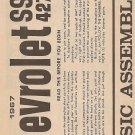 Inst Sheet 1967 Chev SS 427