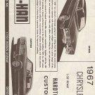 Inst Sheet 1967 Chrysler 300 Hardtop