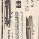 Inst Sheet 1967 Chrysler Conv 300