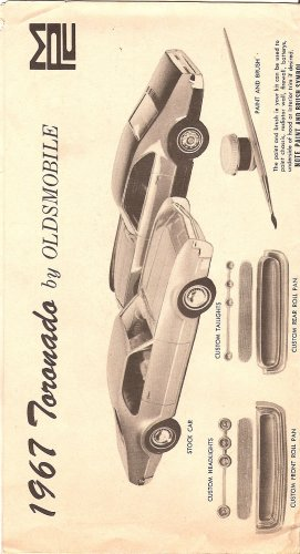 Inst Sheet 1967 Olds Toronado