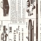 Inst Sheet 1967 Plymouth Fury Conv