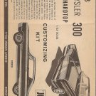 Inst Sheet 1968 Chrysler 300 Hardtop