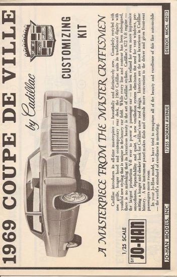 Inst Sheet 1969 Coupe De Ville