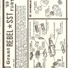 Inst Sheet 1969 Drag Funny Car Rebel SST