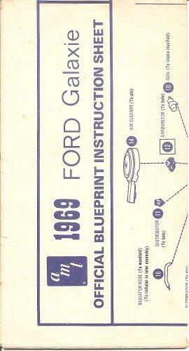 Inst Sheet 1969 Ford Galaxie Blueprint