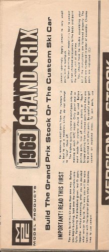 Inst Sheet 1969 Grand Prix